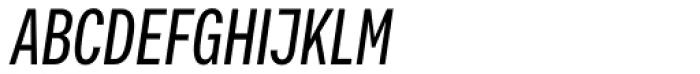 Vito Compressed Medium Italic Font UPPERCASE