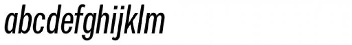 Vito Compressed Medium Italic Font LOWERCASE