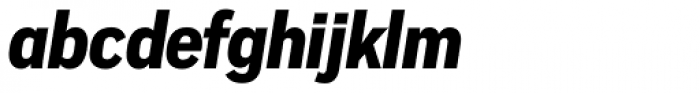 Vito Condensed Black Italic Font LOWERCASE