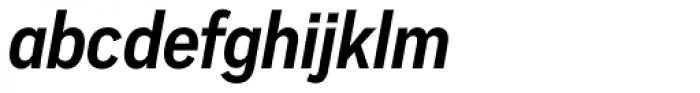 Vito Condensed Bold Italic Font LOWERCASE