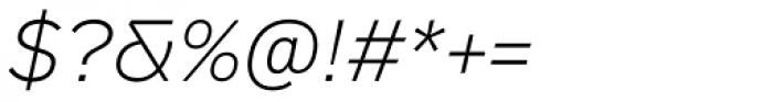 Vito Light Italic Font OTHER CHARS