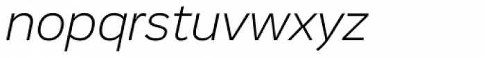 Vito Light Italic Font LOWERCASE