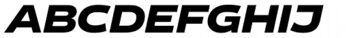 Vito Wide Black Italic Font UPPERCASE