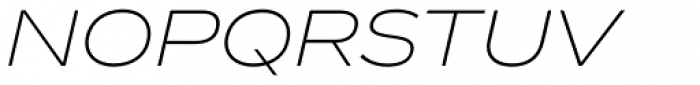 Vito Wide Extra Light Italic Font UPPERCASE