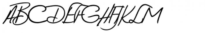 Vittorio Handwriting Font UPPERCASE
