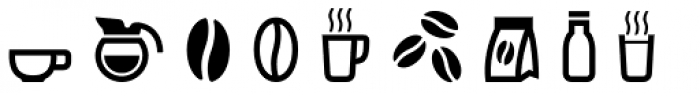 Vivala Coffee House Icons Font LOWERCASE