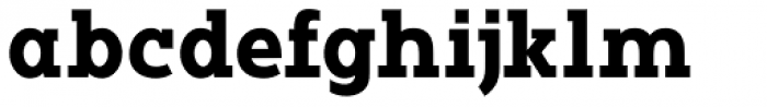 Vivala G Slab Bold Condensed Font LOWERCASE