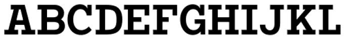 Vivala G Slab Demi Bold Condensed Font UPPERCASE