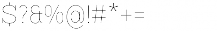 Vivala G Slab Hairline Condensed Font OTHER CHARS