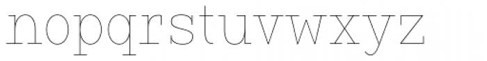 Vivala G Slab Hairline Condensed Font LOWERCASE