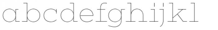 Vivala G Slab Hairline Font LOWERCASE