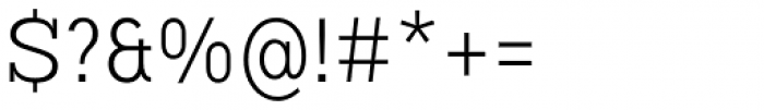 Vivala G Slab Light Condensed Font OTHER CHARS
