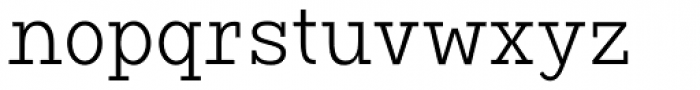 Vivala G Slab Light Condensed Font LOWERCASE