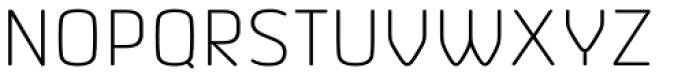 Vivala Sans Round ExtraLight Font UPPERCASE