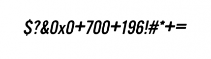 Vinyl Oblique Font OTHER CHARS