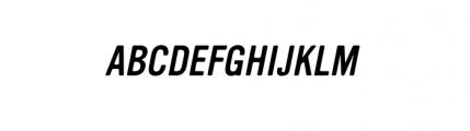 Vinyl Oblique Font UPPERCASE
