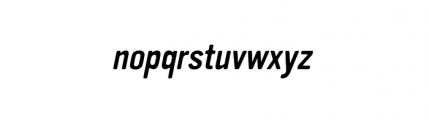Vinyl Oblique Font LOWERCASE