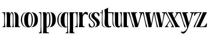 VivaStd-BoldCondensed Font LOWERCASE