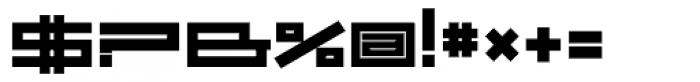 VLNL DBXLZX Bold Font OTHER CHARS