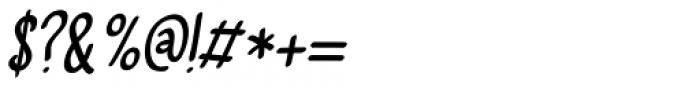 Vlinder Italic Font OTHER CHARS