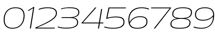 Aero ExtralightItalic Font OTHER CHARS