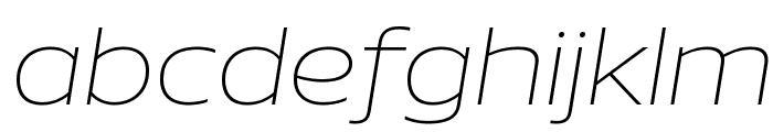 Aero ExtralightItalic Font LOWERCASE