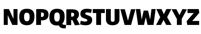 Agile Black Font UPPERCASE