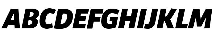 Agile BlackItalic Font UPPERCASE