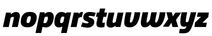 Agile BlackItalic Font LOWERCASE