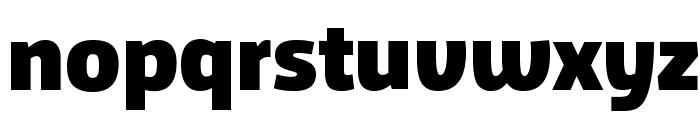 Agile Black Font LOWERCASE