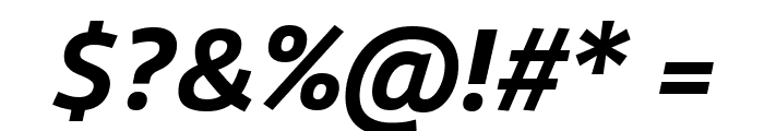 Agile BoldItalic Font OTHER CHARS
