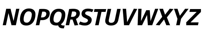 Agile BoldItalic Font UPPERCASE