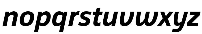 Agile BoldItalic Font LOWERCASE