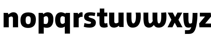 Agile Extrabold Font LOWERCASE