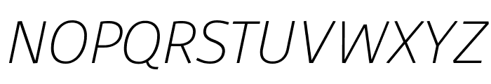 Agile ExtralightItalic Font UPPERCASE