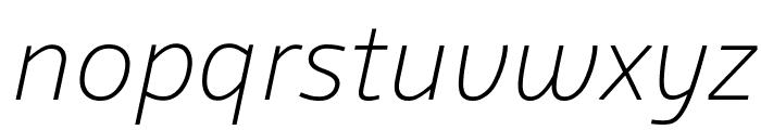 Agile ExtralightItalic Font LOWERCASE