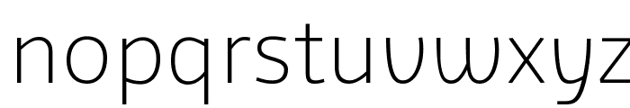Agile Extralight Font LOWERCASE