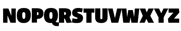 Agile Fat Font UPPERCASE