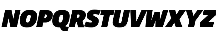 Agile FatItalic Font UPPERCASE