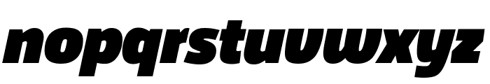 Agile FatItalic Font LOWERCASE