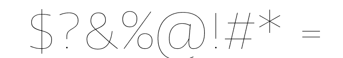 Agile Hairline Font OTHER CHARS