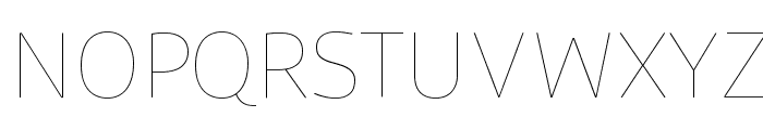 Agile Hairline Font UPPERCASE
