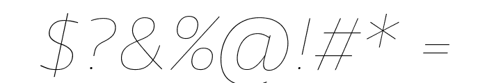 Agile HairlineItalic Font OTHER CHARS
