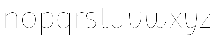 Agile Hairline Font LOWERCASE