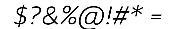 Agile LightItalic Font OTHER CHARS