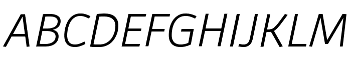 Agile LightItalic Font UPPERCASE
