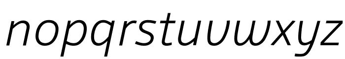 Agile LightItalic Font LOWERCASE