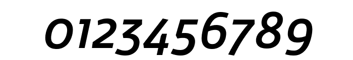 Agile MediumItalic Font OTHER CHARS