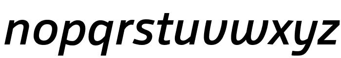 Agile MediumItalic Font LOWERCASE