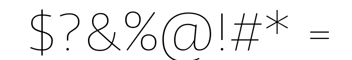Agile Thin Font OTHER CHARS